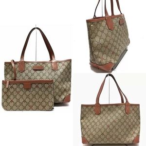 ✨STUNNING✨ GUCCI Spreme Star Leather Tote